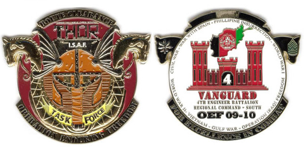 Custom Military Coins- Special Shapes - Unit Coins